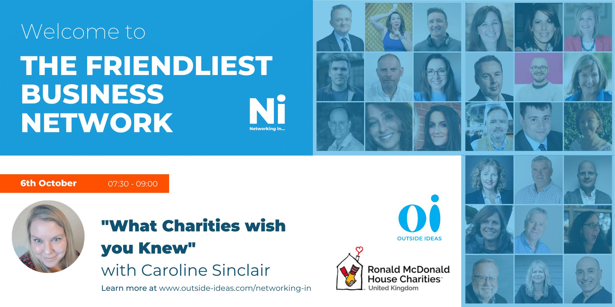 "Caroline Sinclair ""What charities wish you knew"""